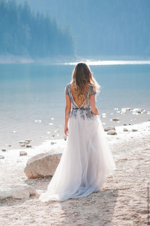 Dusty grey wedding dress Afina – shop online on Livemaster with ...