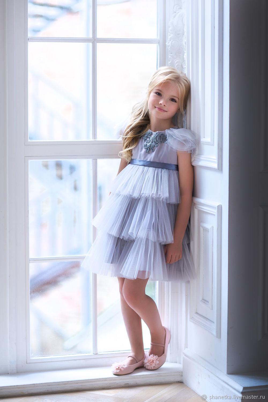 Одежда для девочек, ручной работы. Ярмарка Мастеров - ручная работа. Купить Платье фатиновое нарядное для девочки Pretty flower. Handmade.