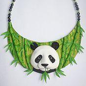 "Украшения handmade. Livemaster - original item Колье из кожи ""Китай"". Handmade."