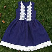 Одежда детская handmade. Livemaster - original item Linen sundress