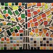 """Картины и панно ручной работы. Ярмарка Мастеров - ручная работа Мозаика из стекла и керамики """"Времена года"""". Handmade."""