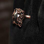 Украшения handmade. Livemaster - original item Copper ring with natural pearls. Handmade.