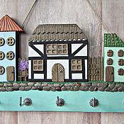 Для дома и интерьера handmade. Livemaster - original item Housekeeper Spring in the city 3.The housekeeper wall. decor polymer clay.. Handmade.