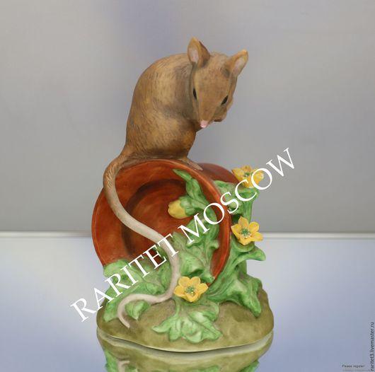 Винтажные предметы интерьера. Ярмарка Мастеров - ручная работа. Купить Мышь крыса кашпо цветы статуэтка Alfretto Англия 2. Handmade.