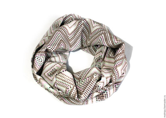 Шарфы и шарфики ручной работы. Ярмарка Мастеров - ручная работа. Купить Шарф-снуд «Дыхание весны»! нежные квадратики. Handmade.