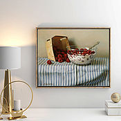Картины и панно handmade. Livemaster - original item Picture Raspberry for Breakfast. Handmade.