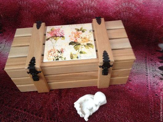 Подарочные наборы ручной работы. Ярмарка Мастеров - ручная работа. Купить Ящичек из реек. Handmade. Бежевый, деревянная заготовка, фурнитура