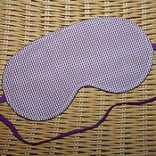 Сувениры и подарки ручной работы. Ярмарка Мастеров - ручная работа Маска для сна Фиолетовая клеточка. Handmade.