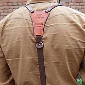 """Аксессуары ручной работы. Ярмарка Мастеров - ручная работа Подтяжки кожаные """"Верн"""". Handmade."""