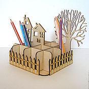 Канцелярские товары ручной работы. Ярмарка Мастеров - ручная работа Карандашница. Handmade.