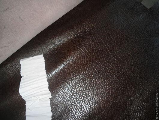 Шитье ручной работы. Ярмарка Мастеров - ручная работа. Купить Шик! Темно-коричневая фактурная кожа (натуральная итальянская кожа). Handmade.