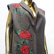 Одежда ручной работы. Ярмарка Мастеров - ручная работа Пальто без рукавов. Handmade.