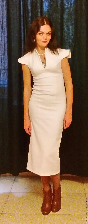 """Платья ручной работы. Ярмарка Мастеров - ручная работа. Купить Платье """"Белый шоколад"""". Handmade. Белое платье, стильное платье"""