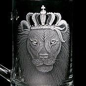 Посуда handmade. Livemaster - original item Beer glass - King, just King, a gift to the man. Handmade.