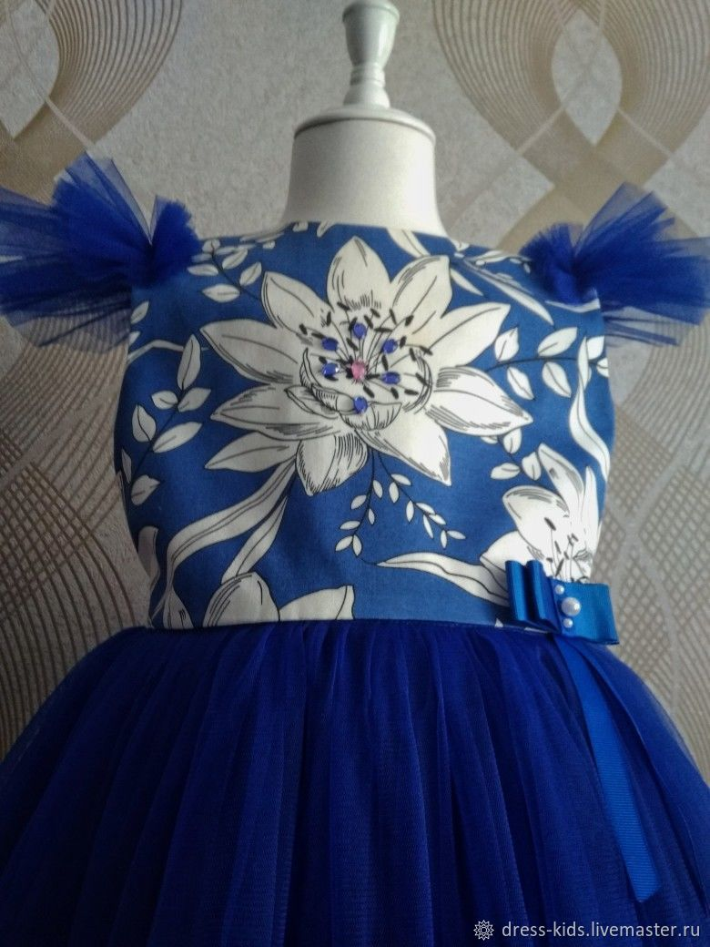 """Нарядное платье из хлопка """"Белая орхидея"""""""