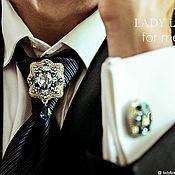 Украшения handmade. Livemaster - original item Men`s brooch. Louis. Brooch tie. brooch for jacket. Handmade.