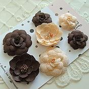 Цветы из ткани Pastel Flowers 7 шт
