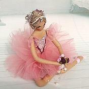 Куклы и игрушки handmade. Livemaster - original item Peach-colored Ballerina Doll. Handmade.
