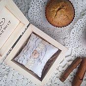 Для дома и интерьера handmade. Livemaster - original item The box for the rings Enamored owls. Handmade.