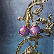 Украшения handmade. Livemaster - original item Earrings BERRY DESSERT Copyright lampwork Silver plated. Handmade.