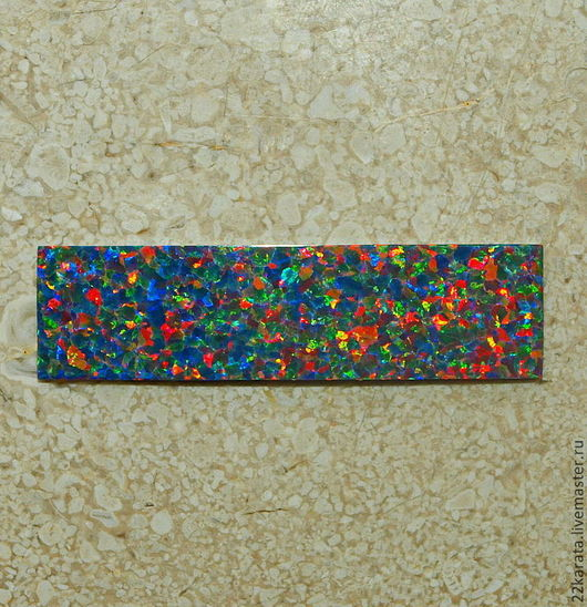 Для украшений ручной работы. Ярмарка Мастеров - ручная работа. Купить Опал пластина синтетический, оранжевый/фиолетовый 39,5 х 10,5. Handmade.