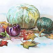 Картины и панно ручной работы. Ярмарка Мастеров - ручная работа Тыквы с кленовыми листьями. Handmade.