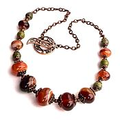 Украшения handmade. Livemaster - original item To buy a necklace with natural stones. Necklace with agate and jasper. Handmade.