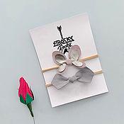 Работы для детей, handmade. Livemaster - original item A set of children`s polatchek Butterfly & Grey ribbon. Handmade.