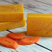 Косметика ручной работы. Ярмарка Мастеров - ручная работа SPA соляное морковное с пюре моркови натуральное мыло с нуля. Handmade.