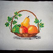 Картины и панно ручной работы. Ярмарка Мастеров - ручная работа Корзина с фруктами. Handmade.