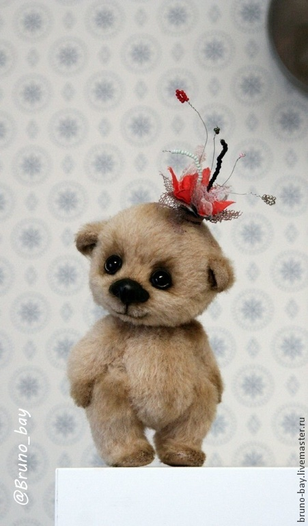 Мишки Тедди ручной работы. Ярмарка Мастеров - ручная работа. Купить Тося. Handmade. Бежевый, мишка тедди, мишка девочка