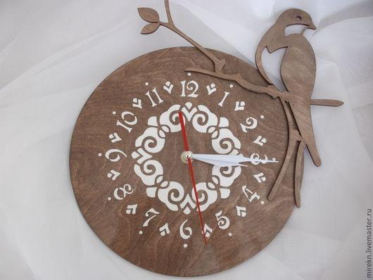 Часы для дома ручной работы. Ярмарка Мастеров - ручная работа. Купить Часы настенные Ласточка проданы. Handmade. Коричневый, ласточка