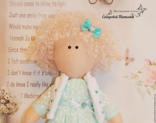 Коллекционные куклы ручной работы. Ярмарка Мастеров - ручная работа. Купить Кукла интерьерная из ткани. Handmade. Мятный, кукла Тильда