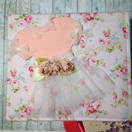 Для новорожденных, ручной работы. Ярмарка Мастеров - ручная работа. Купить Мамины сокровища для девочки розовые в цветочек.. Handmade. розовый
