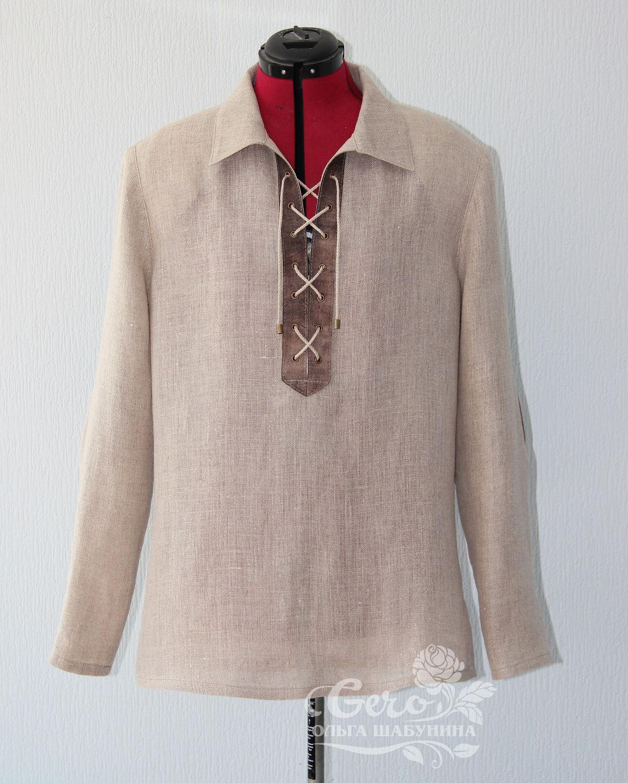 82e391f1b838e4b Ярмарка Мастеров - ручная работа. Купить Льняная мужская рубашка ...