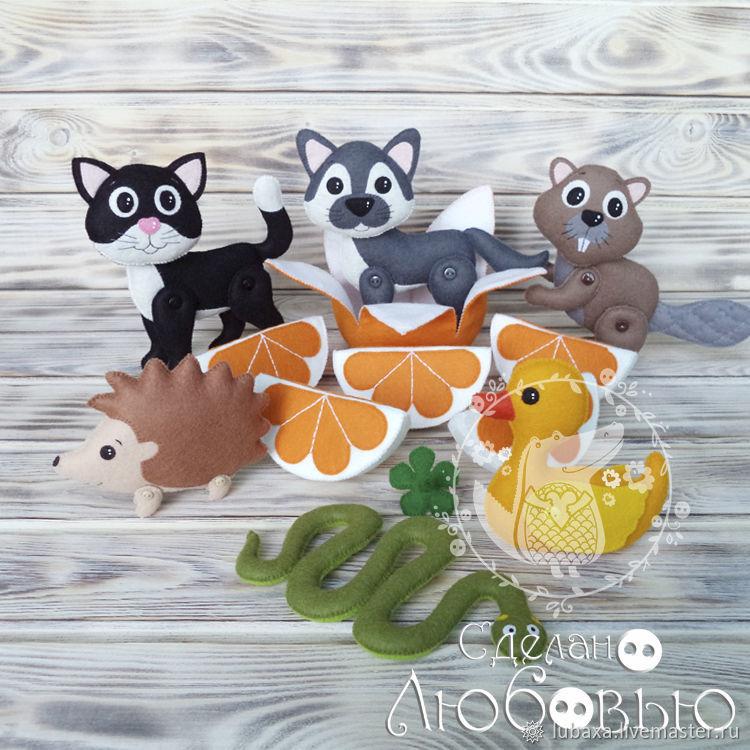 Educational game felt 'We shared an orange', Play sets, Vyborg,  Фото №1