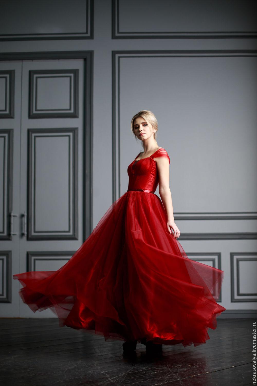 красное вечернее платье купить москва