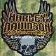 Нашивка наспинная HARLEY-DAVIDSON MOTORCYCLES GOTHIC WINGS SKULL Машинная вышивка. Белорецкие нашивки. Нашивка. Шеврон. Патч. Вышивка. Шевроны.  Патчи. Нашивки. Купить нашивку.