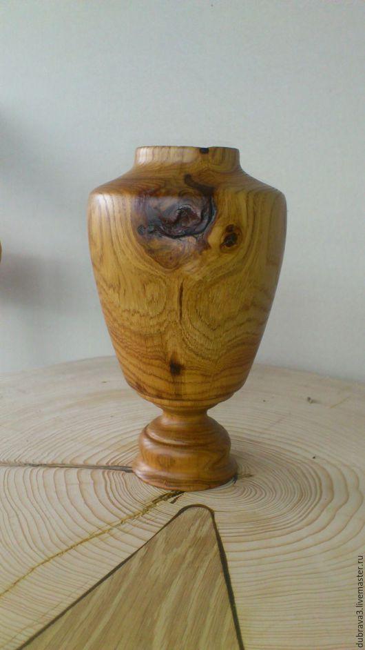 Вазы ручной работы. Ярмарка Мастеров - ручная работа. Купить вазочка из дуба. Handmade. Коричневый