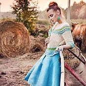 """Одежда ручной работы. Ярмарка Мастеров - ручная работа Жакет  """"Пастораль"""" 100% хлопок. Handmade."""