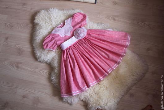 Одежда для девочек, ручной работы. Ярмарка Мастеров - ручная работа. Купить Нарядное платье для девочки. Handmade. Разноцветный