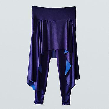 Одежда ручной работы. Ярмарка Мастеров - ручная работа Брюки: Брюки-юбка для занятий йогой и танцем. Handmade.