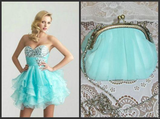 Такая прелестная сумочка нежного мятного цвета не только украсит и дополнит Ваш образ. Она просто незаменима на свадьбе, выпускном, в театре, на свидании.
