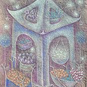 Картины и панно ручной работы. Ярмарка Мастеров - ручная работа Звезды любят запахи цветов... Картина-диптих. Сказка.. Handmade.