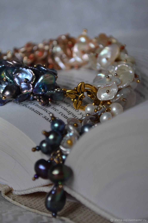 Жемчужная гроздь, Браслет из бусин, Яхрома,  Фото №1
