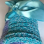 Для дома и интерьера handmade. Livemaster - original item Baby soft turquoise new baby Alpaca, cashmere and Merino. Handmade.
