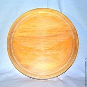 Материалы для творчества handmade. Livemaster - original item Plate for painting 38 cm. Siberian Cedar Blank for painting T3. Handmade.
