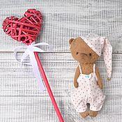 Куклы и игрушки ручной работы. Ярмарка Мастеров - ручная работа Мишка тедди Валентинчик. Handmade.