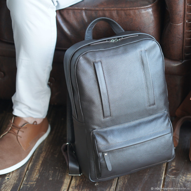 Men's backpack leather 'Salvador' (Brown), Men\\\'s backpack, Yaroslavl,  Фото №1