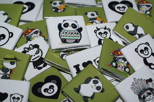 Персональные подарки ручной работы. Ярмарка Мастеров - ручная работа. Купить Crazy Pandas..Сувенирный набор. Handmade. Бонбоньерка, мишка